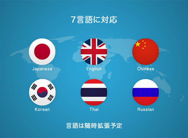 7言語対応